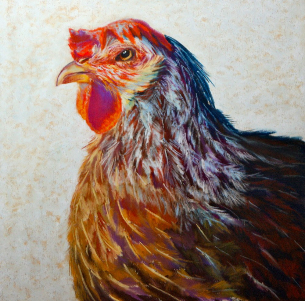 """""""Comb Over"""" original fine art by Jill Bates"""