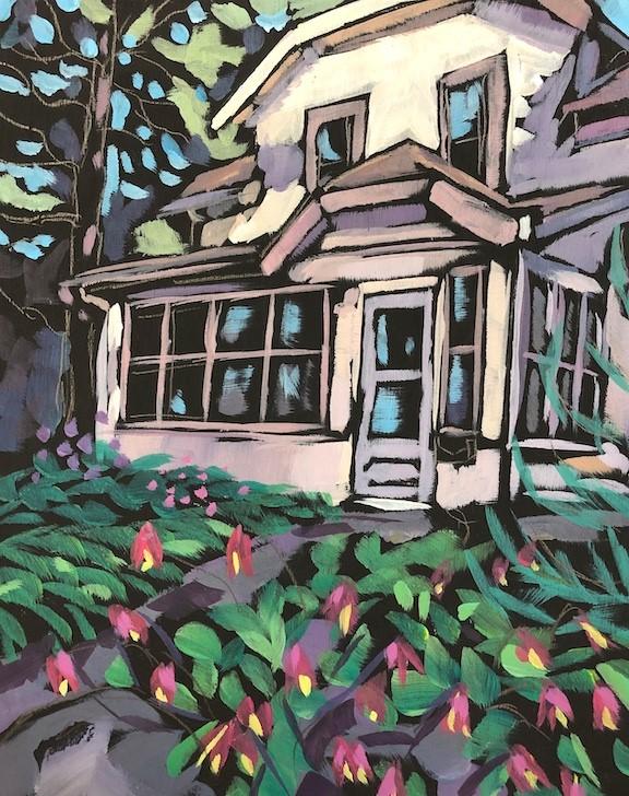 """""""Summer Garden"""" original fine art by Kat Corrigan"""