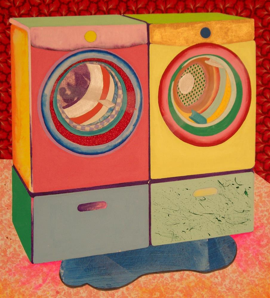 """""""Washer and Dryer with Problem"""" original fine art by Lisa Fulton"""
