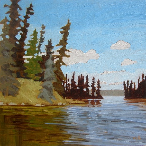 """The Channel, Heart Lakes"" original fine art by Nicki Ault"