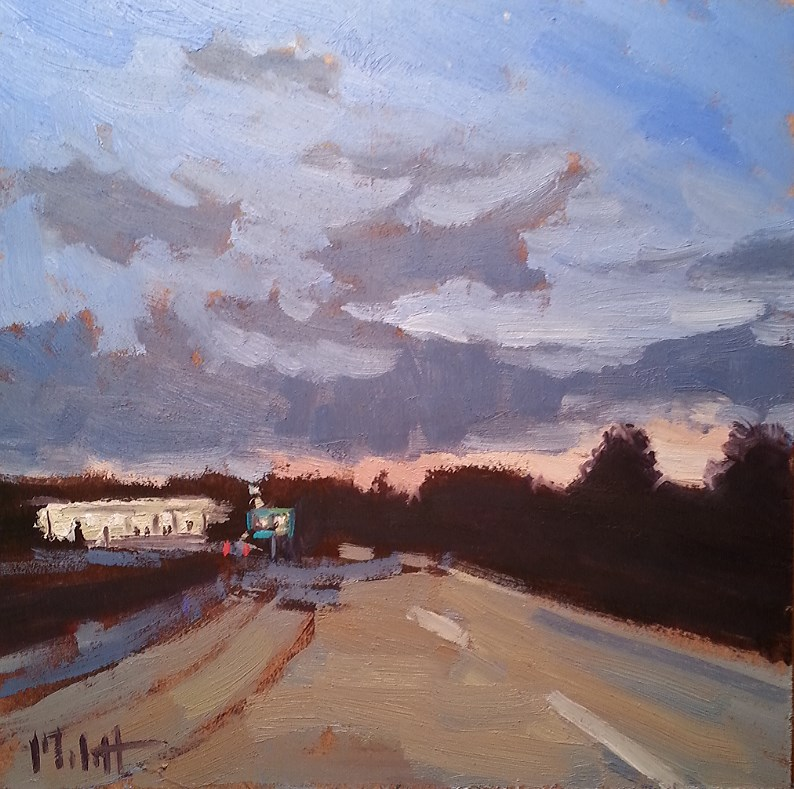 """American Diner Summertime Road Trip Original Oil Painting"" original fine art by Heidi Malott"