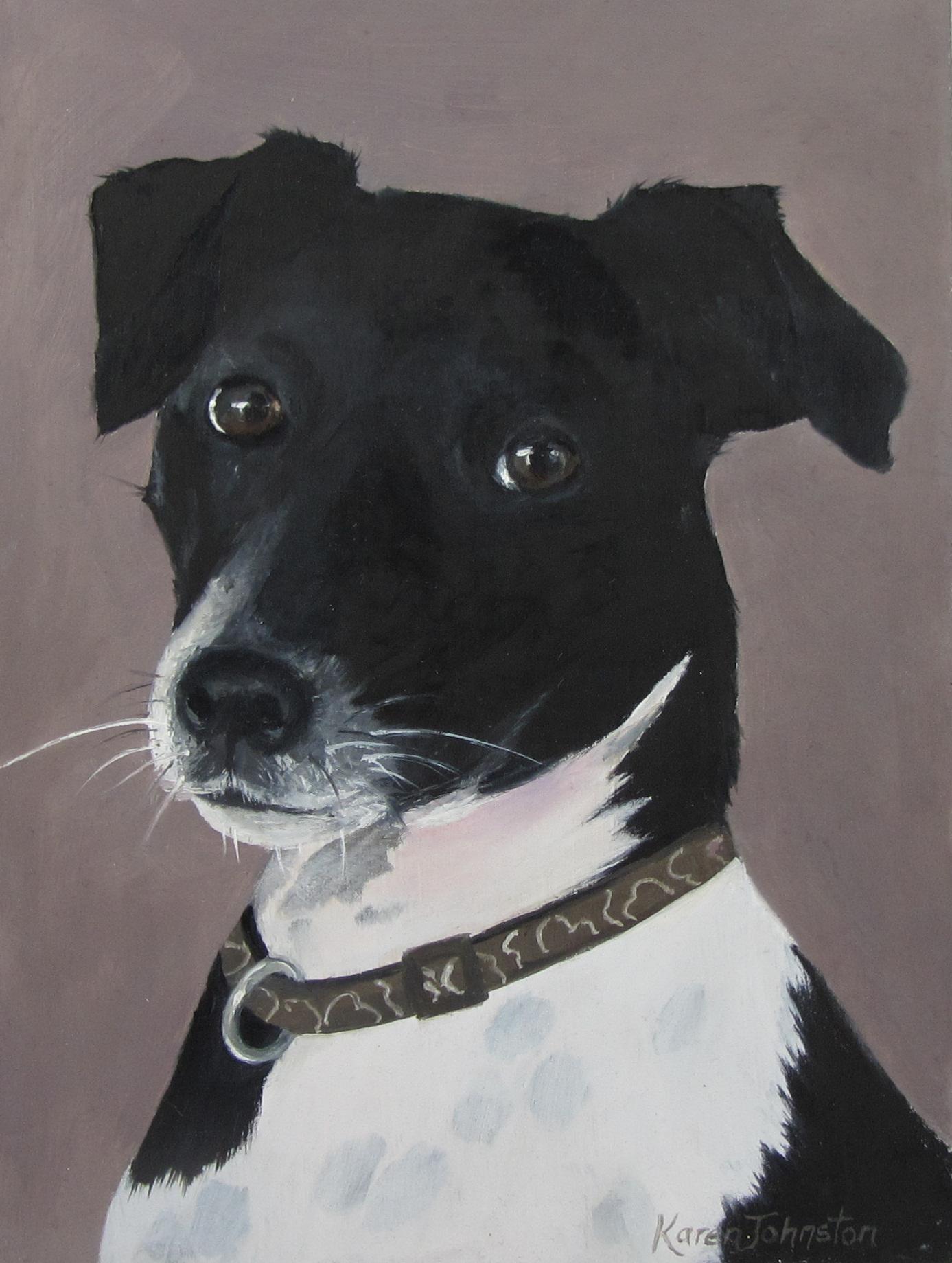 """Rufus"" original fine art by Karen Johnston"