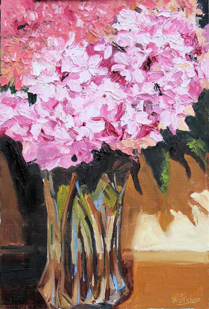 """Hydrangeas in Vase"" original fine art by Patricia Matranga"