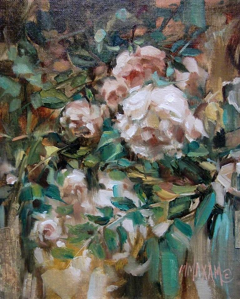 """Rose Bower"" original fine art by Mary Maxam"