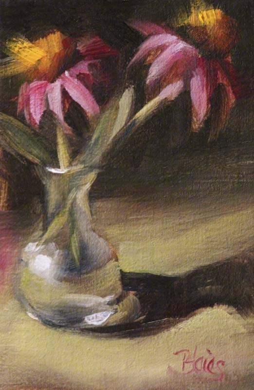 """""""Freshly Cut Coneflowers"""" original fine art by Pamela Blaies"""
