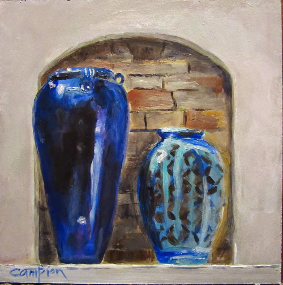 """511 As Blue as the Sea"" original fine art by Diane Campion"