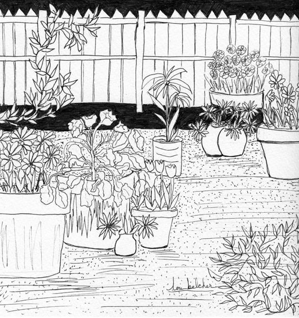 """Garden Delight"" original fine art by Lou Belcher"