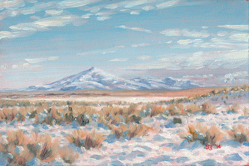 """C1581 High Desert in Winter (Beattys Butte, Oregon High Desert)"" original fine art by Steven Thor Johanneson"