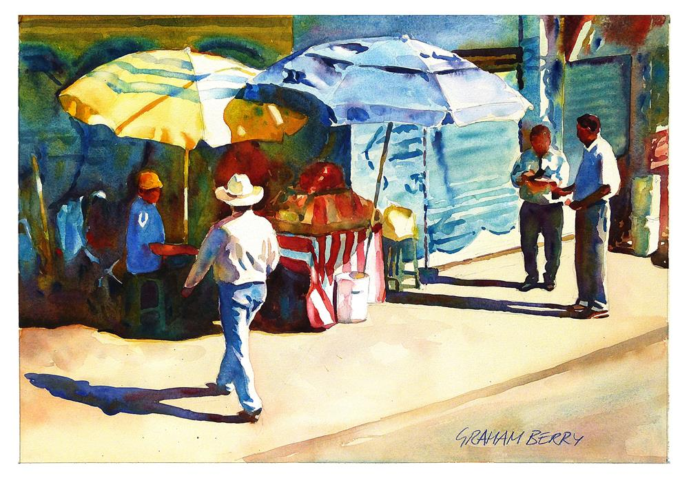 """""""Street vendor."""" original fine art by Graham Berry"""