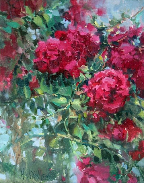 """Untended"" original fine art by Mary Maxam"