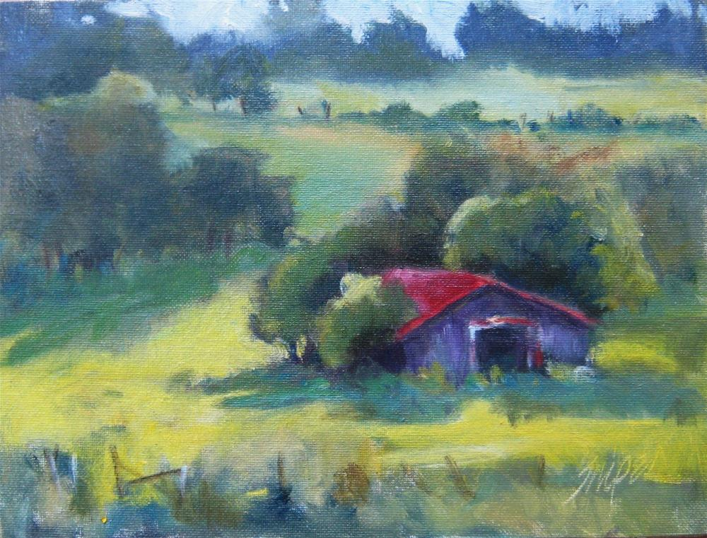 """""""Looking Down"""" original fine art by Connie Snipes"""