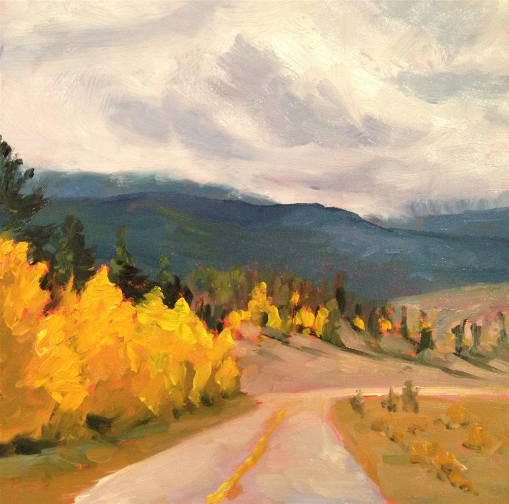 """Colorado Road Trip"" original fine art by Claudia L Brookes"