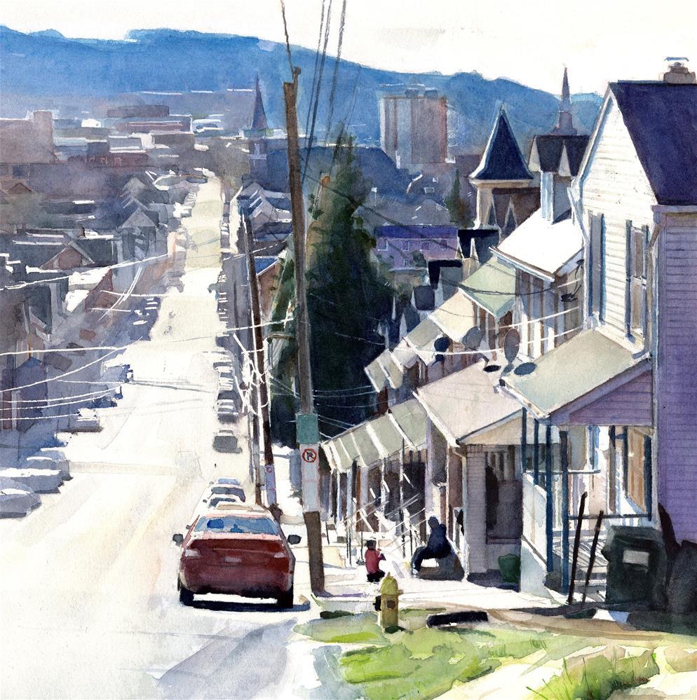 """""""Street Scene from the South Side, Bethlehem, PA"""" original fine art by Taryn Day"""