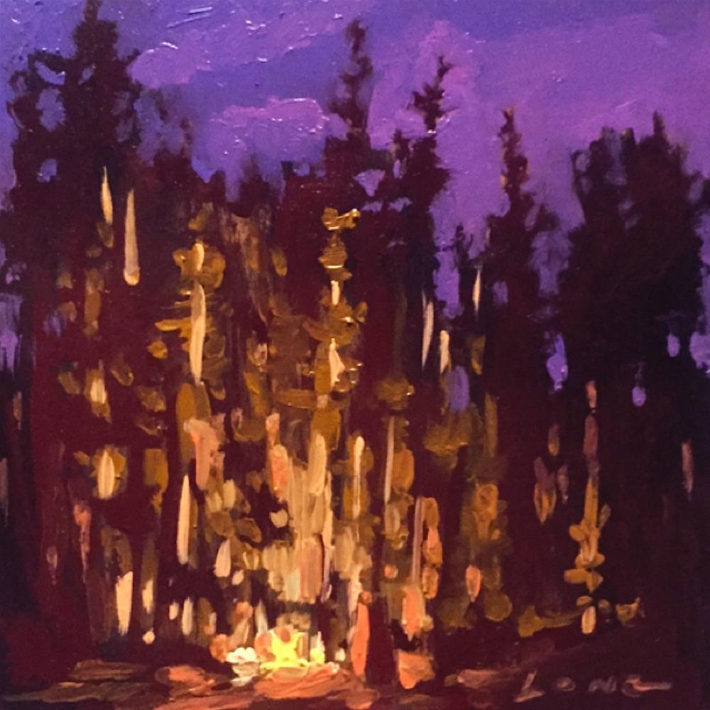 """Autumn Campfire"" original fine art by Chris Long"