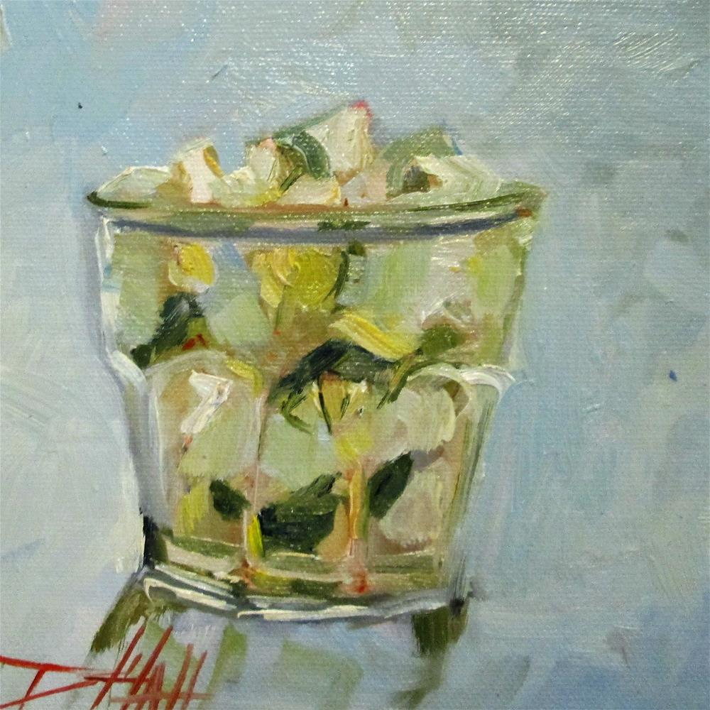 """""""Gin and Tonic"""" original fine art by Delilah Smith"""