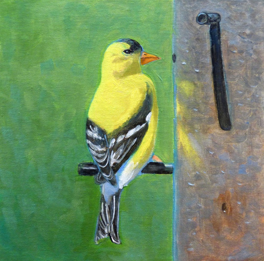 """At The Feeder"" original fine art by Rhett Regina Owings"