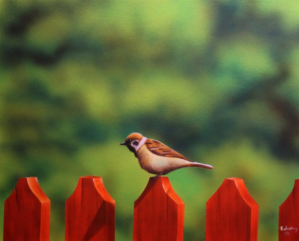 """Over A Fence"" original fine art by Fred Schollmeyer"