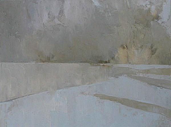 """Peaceful Shore"" original fine art by Donna Thomas"