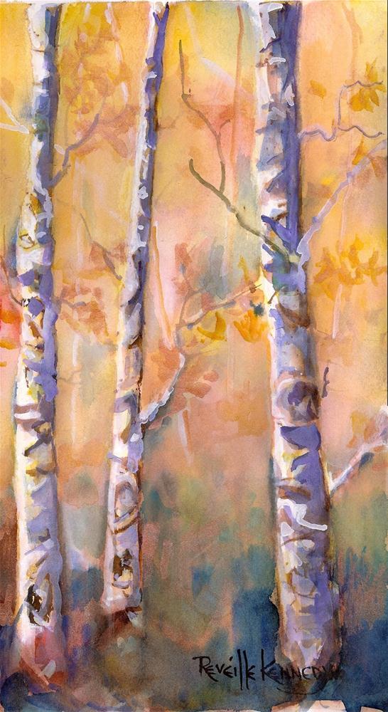 """Aspen Leaves Glade"" original fine art by Reveille Kennedy"