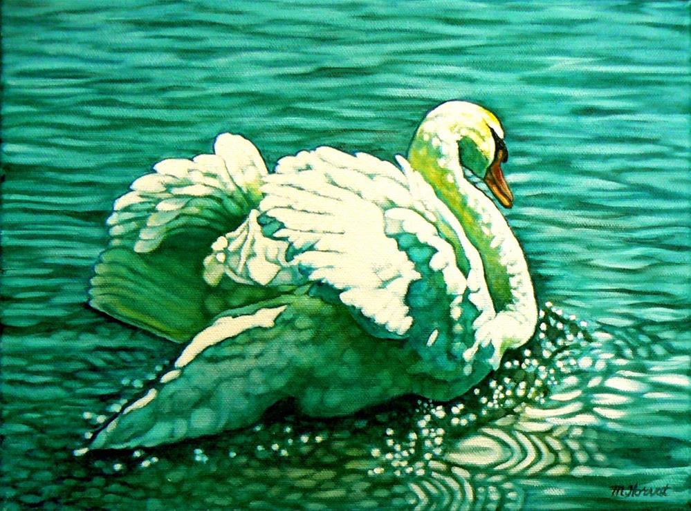 """""""Stratford Swan I (See Ya Later)"""" original fine art by Margaret Horvat"""