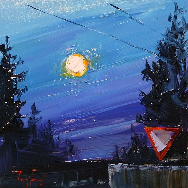 """""""full moon"""" original fine art by Jurij Frey"""
