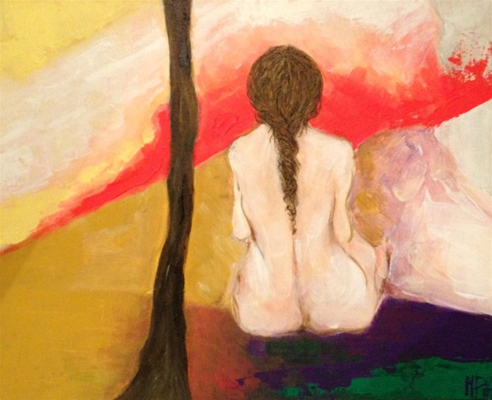 """Contemplating (4)"" original fine art by Monica Pinotti"