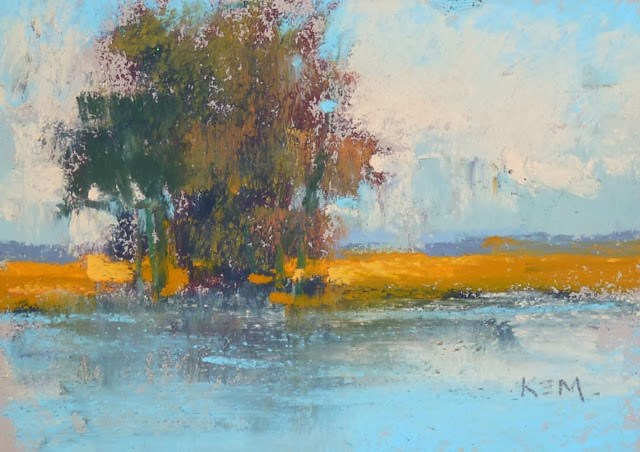 """""""A Great Idea for Trying New Pastel Papers"""" original fine art by Karen Margulis"""