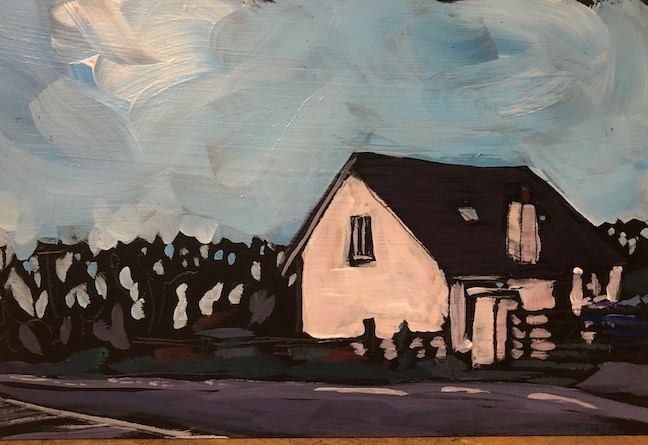 """Irish House"" original fine art by Kat Corrigan"