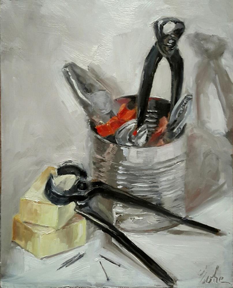 """J'en pince pour toi"" original fine art by Evelyne Heimburger Evhe"