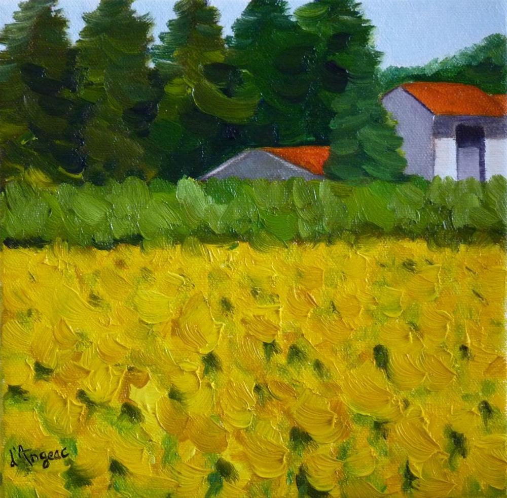 """""""Yellow sunflowers"""" original fine art by Karen D'angeac Mihm"""