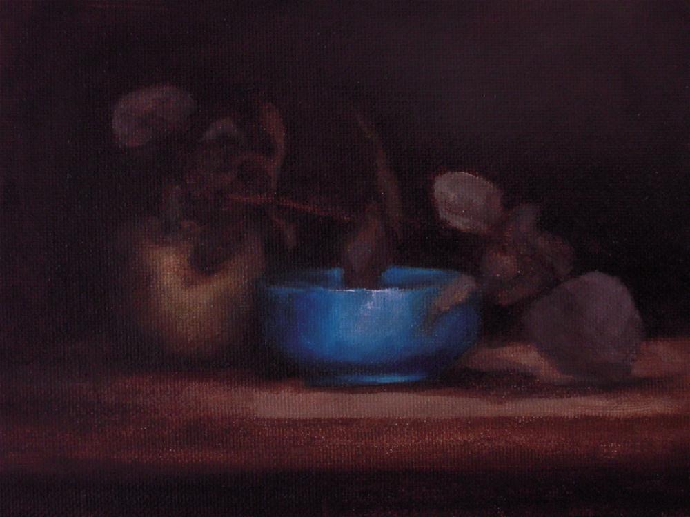 """Blue bowl"" original fine art by Dj Laurienzo"