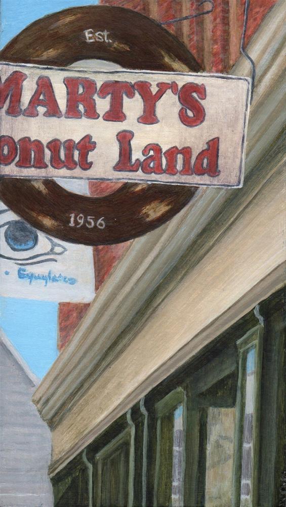 """Marty's"" original fine art by Debbie Shirley"