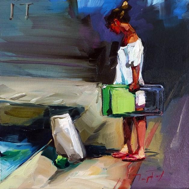 """Am Pool"" original fine art by Jurij Frey"