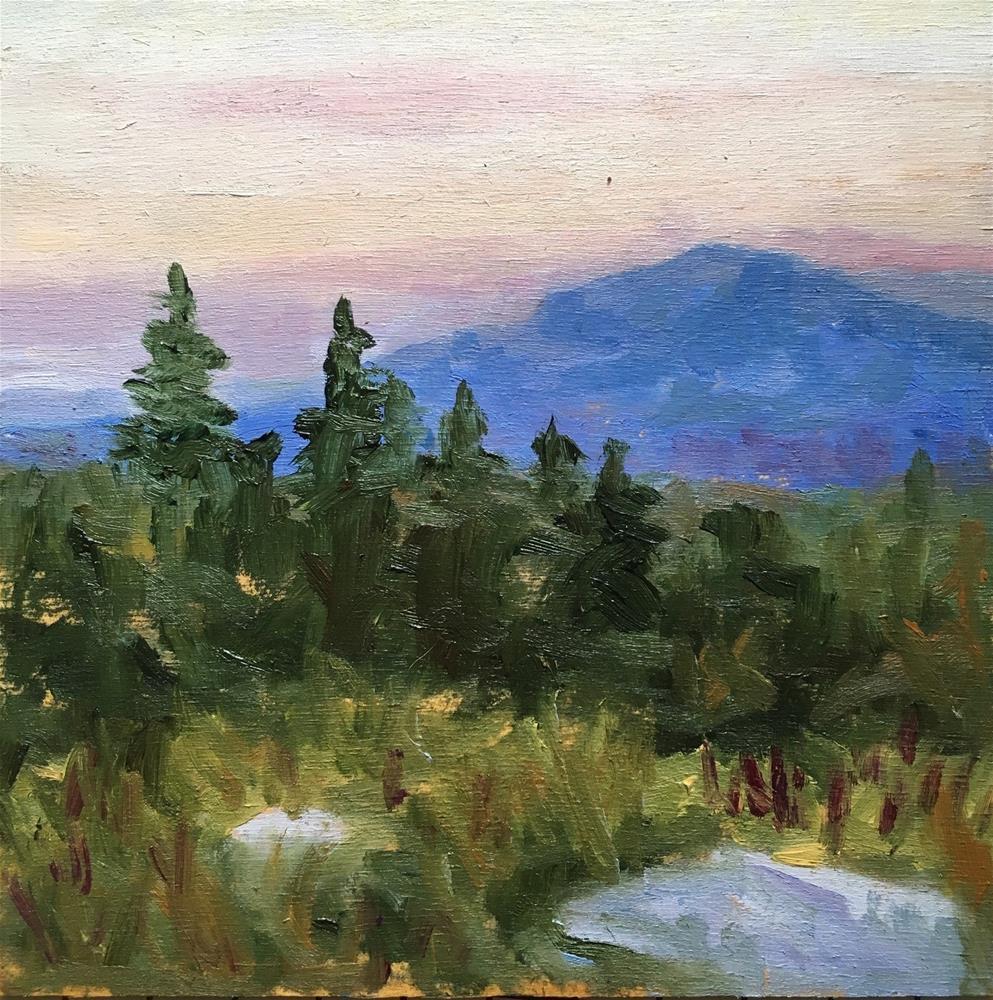 """""""Summer Mountain Sunset"""" original fine art by Shari Goddard Shambaugh"""