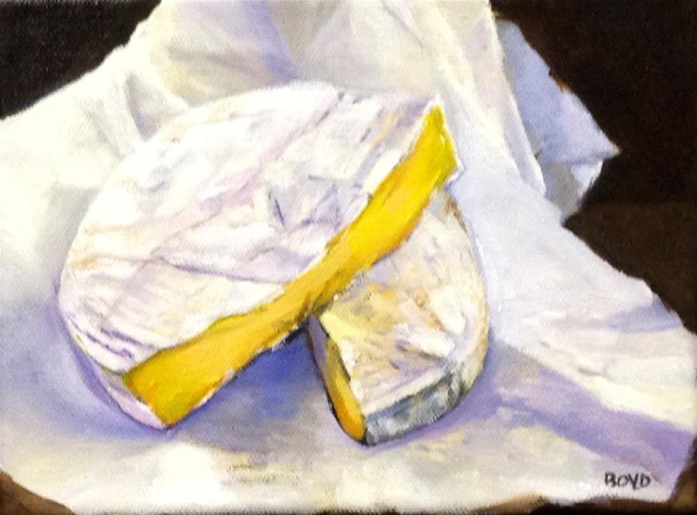 """""""Beautiful Brie"""" original fine art by Cathy Boyd"""