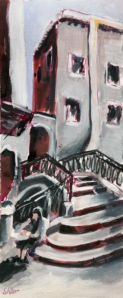 """2454 Painter's Steps"" original fine art by Dietmar Stiller"