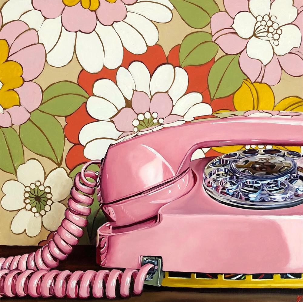 """I hope he calls"" original fine art by Jacinthe Rivard"