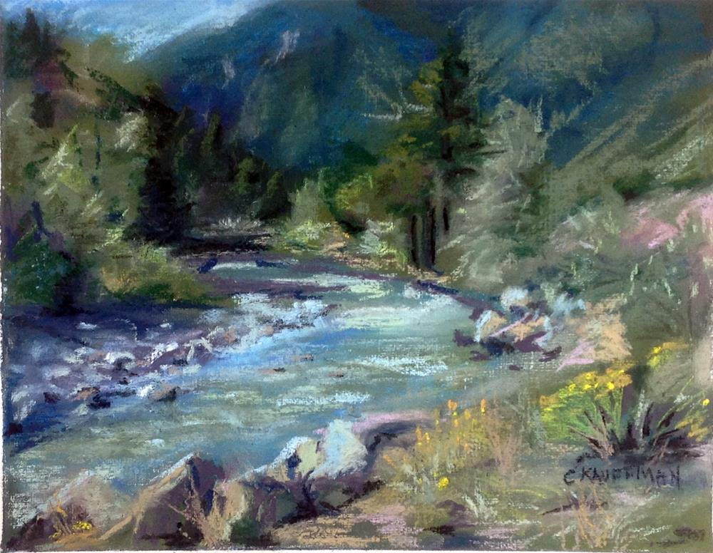 """A River in Colorado"" original fine art by Catherine Kauffman"