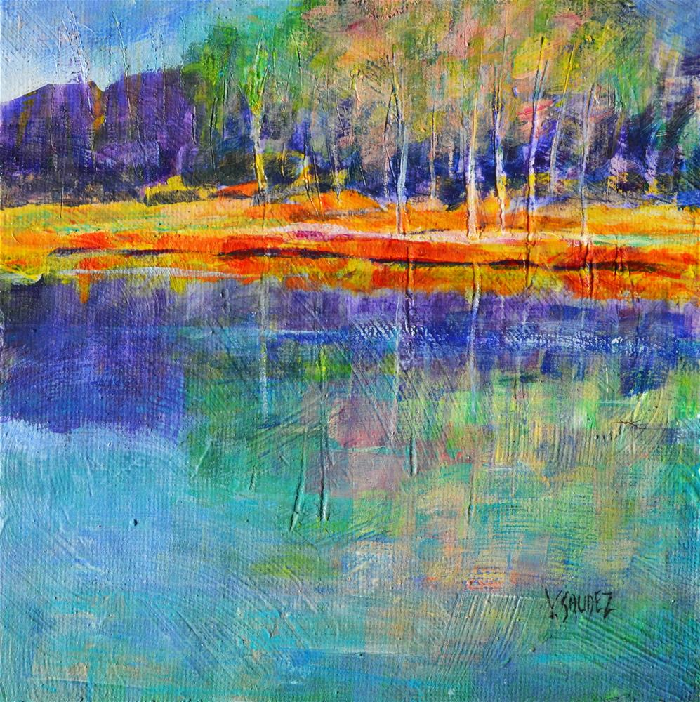 """Summer in Ardennes 3"" original fine art by Véronique Saudez"