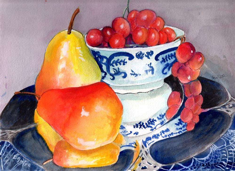 """""""Grapes and Pears"""" original fine art by Bunny Griffeth"""