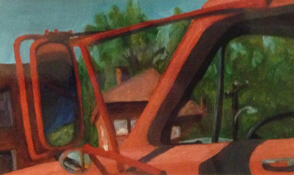 """Red Truck"" original fine art by Karen Collins"
