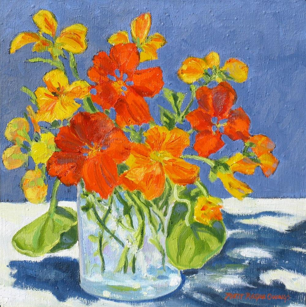 """Nasturtiums"" original fine art by Rhett Regina Owings"