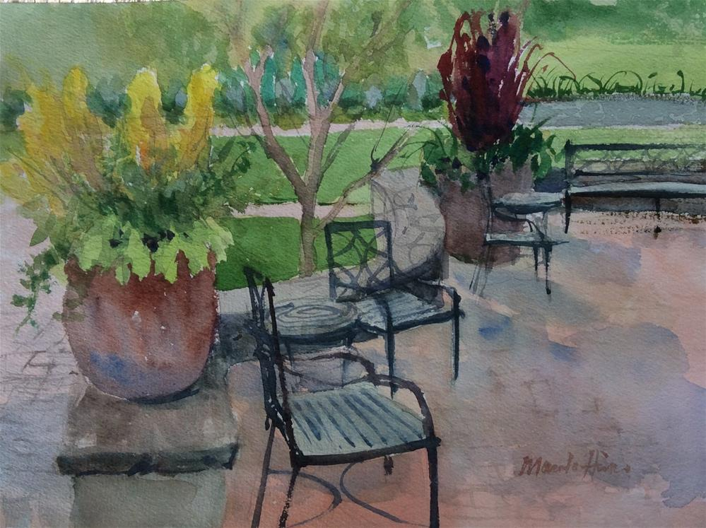 """Rest Area"" original fine art by Marita Hines"
