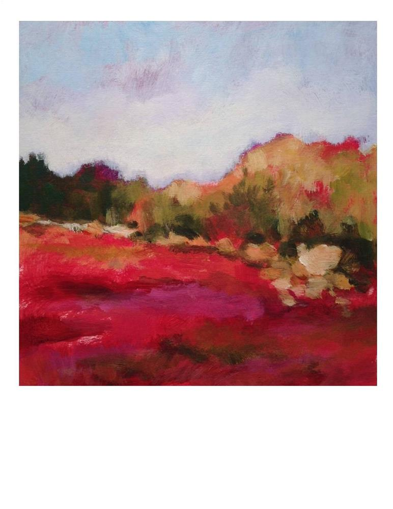 """Blueberry Field"" original fine art by Suzanne Woodward"