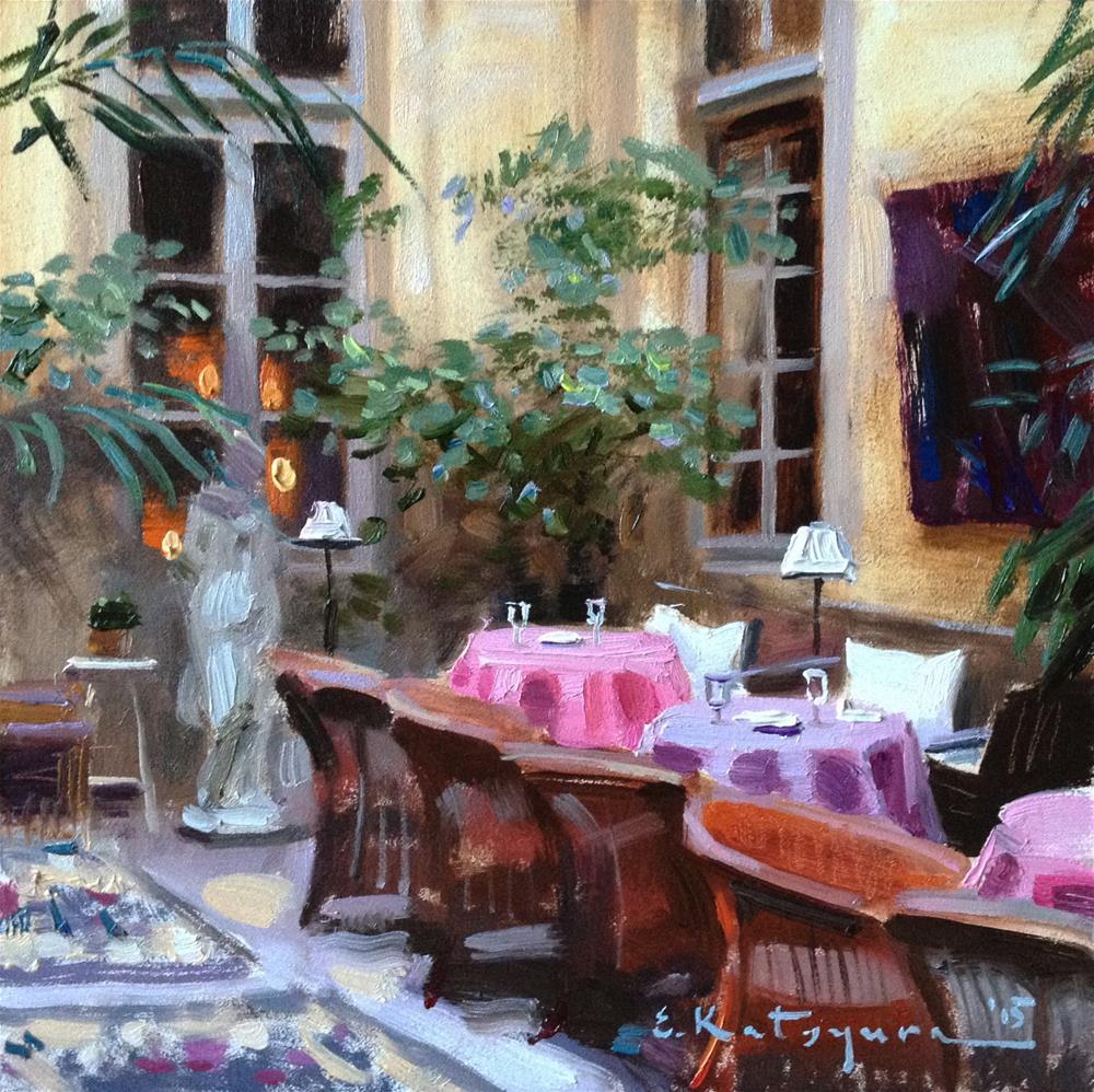 """Colorful Tables"" original fine art by Elena Katsyura"