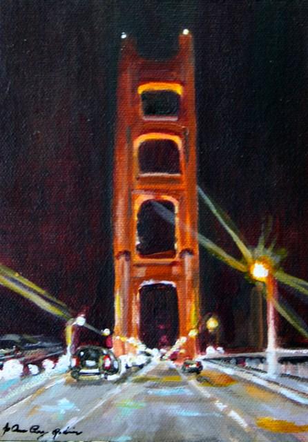 """""""Crossing The Bridge"""" original fine art by JoAnne Perez Robinson"""