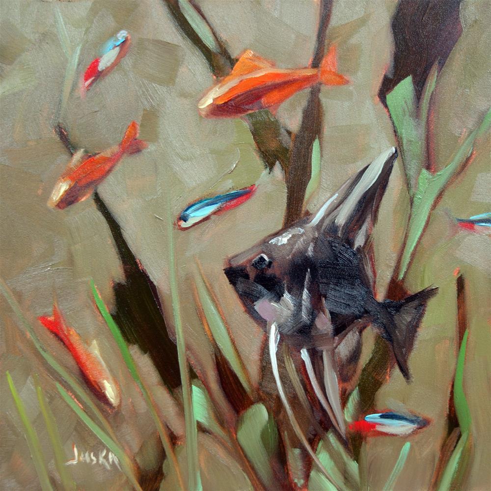 """Angel Fish #3"" original fine art by Elaine Juska Joseph"