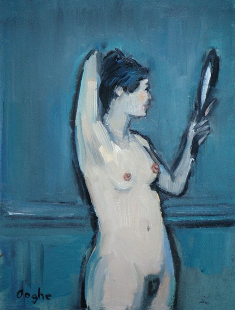 """""""Nude with Hand Mirror"""" original fine art by Angela Ooghe"""