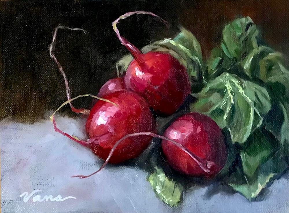 """Radish Study-#1"" original fine art by Vana Meyers"