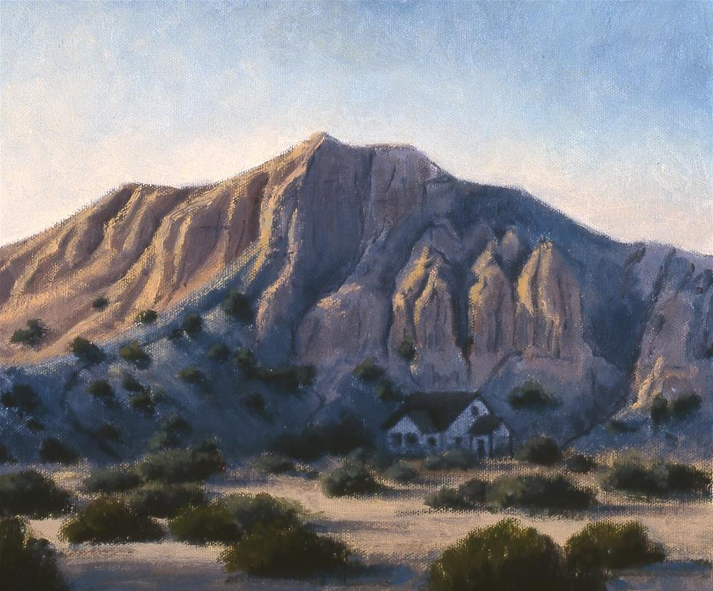 """January,New Mexico"" original fine art by Janet Broussard"